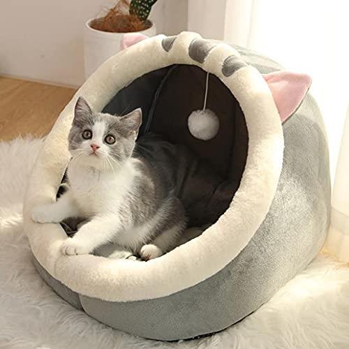 TREWQ Cojín para gatos con cojín para gatos y gatos, muy suave, parte inferior antideslizante, adecuado para perros pequeños y gatos A-M