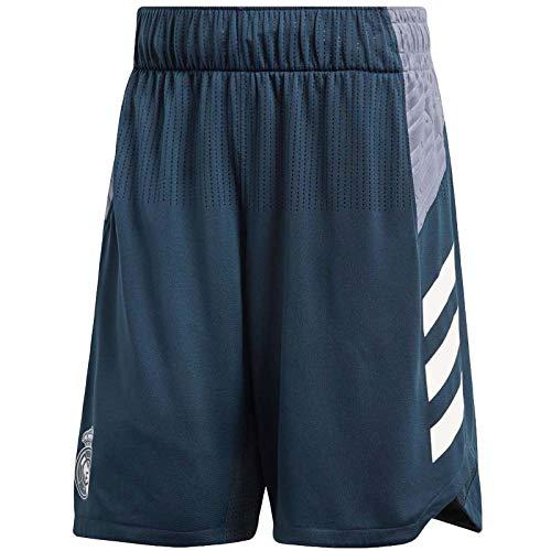 Adidas Performance - Pantaloncini da calcio Real Madrid, colore: Grigio, 7301_33289, Grigio, L