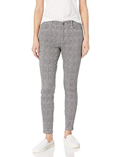 Amazon Essentials Women's Mid-Rise Skinny Stretch Knit Jegging, Glen Plaid, 14