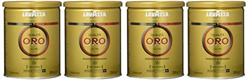 Lavazza Qualita Oro 250 g Dose, 4er Pack (4 x 250 g)