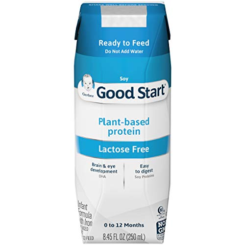 Gerber Good Start Stage-1 Soy Non-GMO Ready to Feed Infant Formula, Liquid, 8.45 Fl Oz (Pack of 16), 135.2 Fl Oz