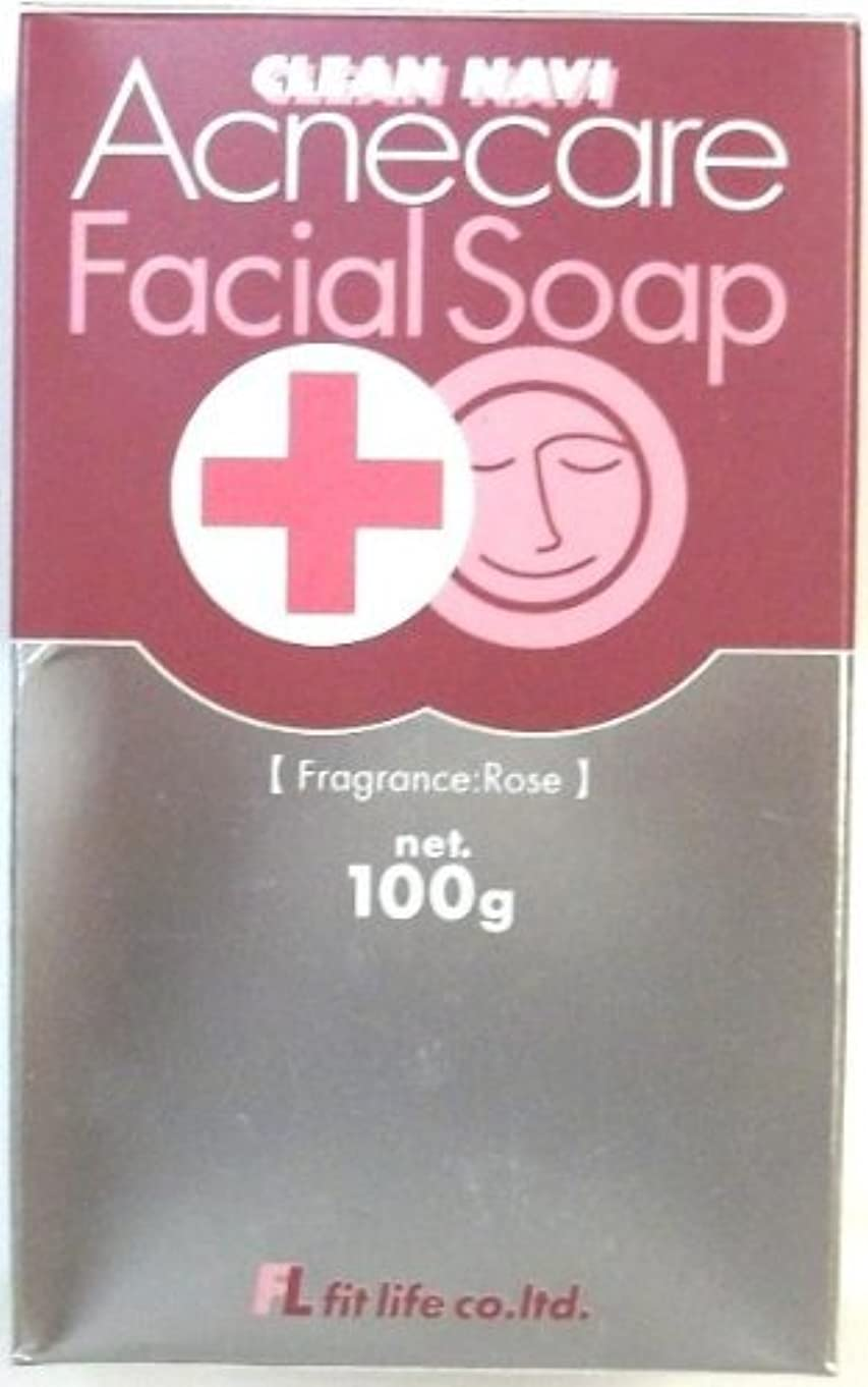 この掻く特徴づけるクリーンナビ アクネケア洗顔石鹸 100g