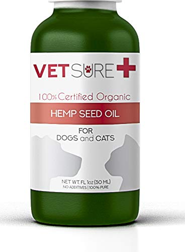 VetSure+ Hemp Oil for Dogs,Cats, Separation Anxiety,Joint Pain, Reliefs Itch, Allergy, Stress Relief, Arthritis, Chronic Pains, Anti-Inflammatory - Omega 3, 6 & 9