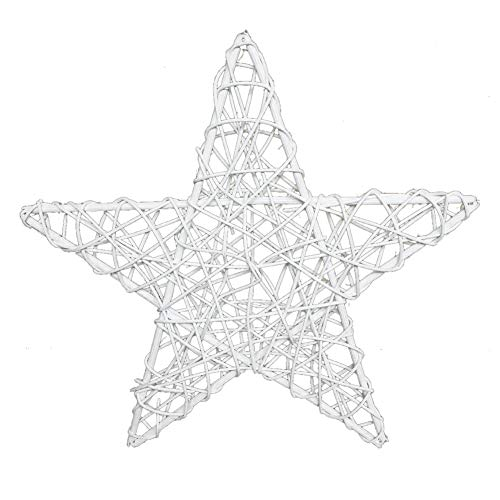 KeKeandYaoYao Rattan Vine Star Shape Christmas Tree Decoration Accessories Diy Christmas Birthday Party Crafts Decoration 20cm
