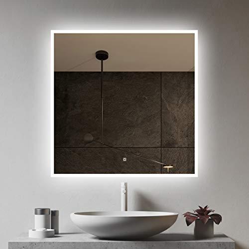 S'bagno - Specchio da bagno illuminato a LED, con altoparlante Bluetooth integrato, funzione di...