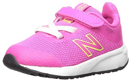 New Balance Kid's 455 V2 Alternative Closure Running Shoe, Peony, 3 M US Infant