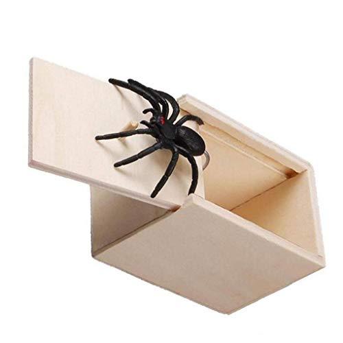 Lustige Scare Box Spinne Versteckt in Holzetui Streich-Witz-Trick-wiedergabe Spielzeug Personalisierte Geschenke Lassen Sie Ihre Freunde