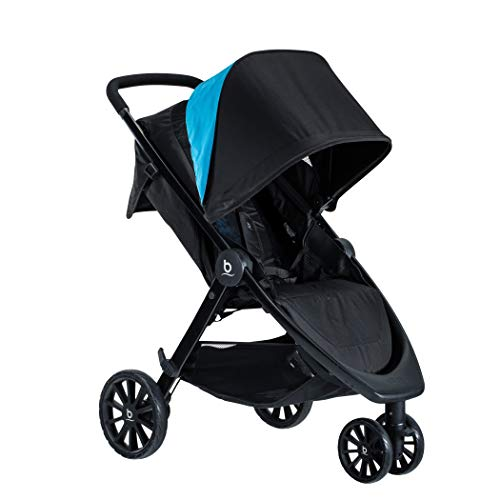 Britax B-Lively Lightweight Stroller | One Hand, Easy Fold + Infinite Recline + Front Access Storage + Peekaboo Window + Cool Flow Ventilated Fabric, Cool Flow Teal