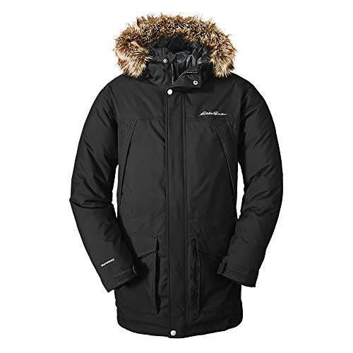 Eddie Bauer Men's Superior Down Parka, Black Regular XL