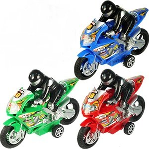 Funeez Friction Powered High Speed Motorcycles with Rider Toy for Kids Set of 3 (Assorted Colors)
