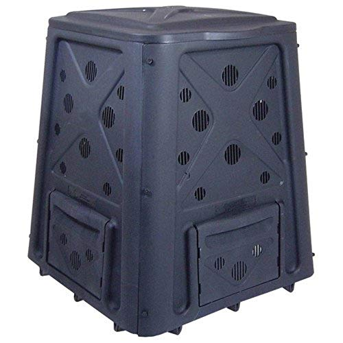 New 65 Gal. Garden Composter Bin Made of Plastic for Patio Green Culture Create Fertile Soil with Ea...