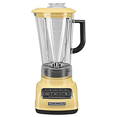 KitchenAid KSB1575MY 5-Speed Diamond Blender with 60-Ounce BPA-Free Pitcher - Majestic Yellow