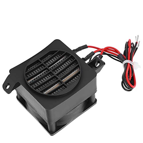 Calentador PTC con ventilador, calentador de cerámica, aluminio, cerámica 220 V 300 W Calentador de aire PTC de cerámica sin llama para temperatura constante automática eléctrica