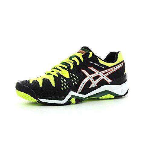 Asics Gel-Resolution 6, Tennisschuhe für Herren, - Onyx / Silver / flash Yellow - Größe: 42.5