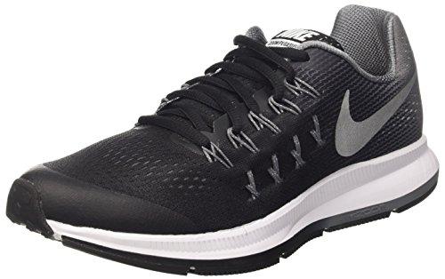 Nike Jongens Blck/Mtllc Slvr-cl Gry-WLF Grijze Sneakers Zwart Maat: 3 UK