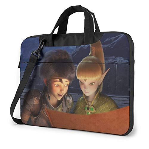 15.6 inch Laptop Shoulder Briefcase Messenger Anime Movies Thro-ne E-lve-s Tablet Bussiness Carrying Handbag Case Sleeve