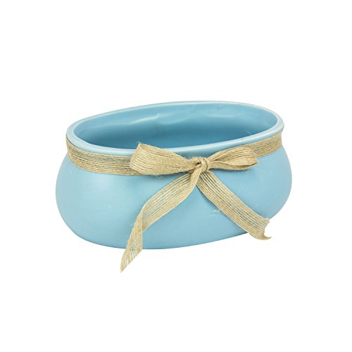Blumentopf aus Keramik L 18 cm pastell Blau matt Keramiktopf Übertopf