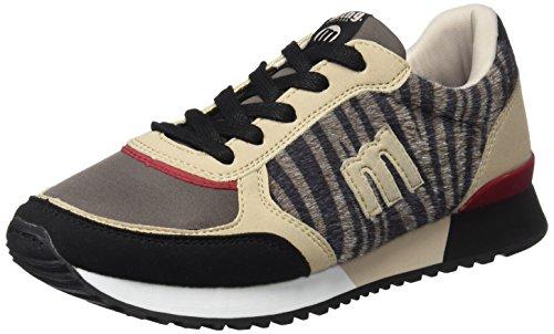 MTNG Gansa, Zapatillas Mujer, Multicolor (Raspe Negro/Zebra Gris), 36 EU