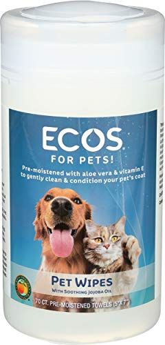 ECOS Natural Pet Wipes, Pre-Moistened Towels