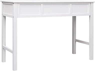 LIUBIAONET Bureaux Bureau Blanc 110 x 45 x 76 cm Bois