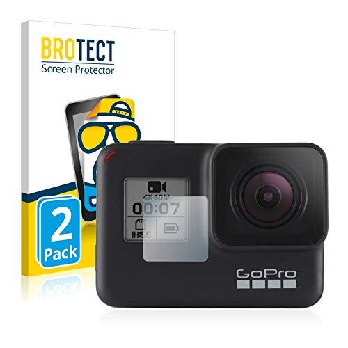 BROTECT 2X Entspiegelungs-Schutzfolie kompatibel mit GoPro Hero7 Black (Vorderes Bildschirm) Bildschirmschutz-Folie Matt, Anti-Reflex, Anti-Fingerprint