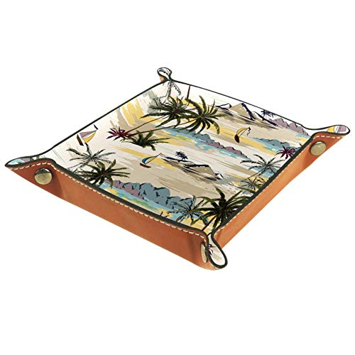 The Rivers and Lakes in The Woods Valet Tray Desktop Storage Organizer for Jewelry, Wallet, Phones, Coins, Watches, Sunglasses, Keys,