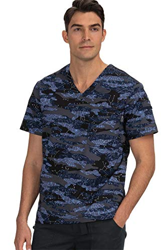 KOI Men#039s 655PR Coby Print Top Astronomy Large
