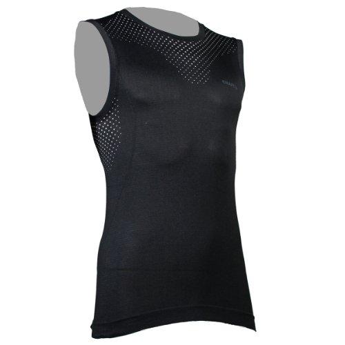 Craft Stay Cool Seamles Singlet 2014 Herren Laufshirt Running Shirt 1902558(S,Black - schwarz)