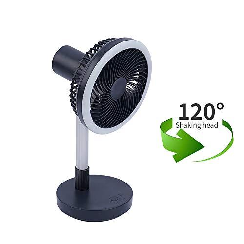WUIO USB-ventilator torenventilatoren, multifunctionele opvouwbare blazer, led-tafellamp voor kantoor, buiten, ziekenhuis