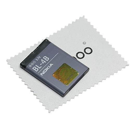 Batería para Original Nokia BL-4B LiIon para Nokia 2630, 2660, 2760, 5000, 6111, 7070, 7370, 7373, 7500, N76 con mungoo pantalla paño de limpieza