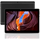 Android Tablet 10 Inch Android 8.1 OS, 3G Unlocked Tablet with Dual SIM Card Slots, FHD IPS Screen, 4GB RAM, 64GB ROM, Quad Core, 2.0 MP Front + 5.0 MP Rear Camera, Bluetooth, GPS(Balck)