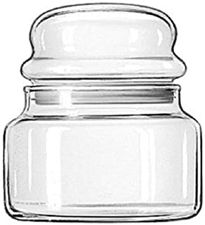 Libbey Storage Glass Jar with Lid, 15 Ounce - 12 per case.