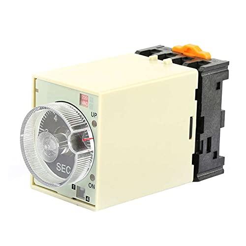 QIANSDZSW Relé Relé de Estado sólido ST3PA B 0 a 10S Potencia de Encendido Temporizador de retransmisión Relé de Control Tiempo de Control con Base AC 220V Latching Relay Socket