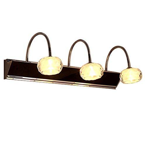 Badkamerverlichting via spiegelkast, 20 inch, commode-make-uplicht, 3 lampen, roestvrije ijdelingslamp, wandlamp voor nachtkastje en ingang