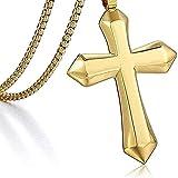 ZGYFJCH Co.,ltd Halskette Frau poliert Halskette Kreuz Anhänger Halskette Jungen Männer...