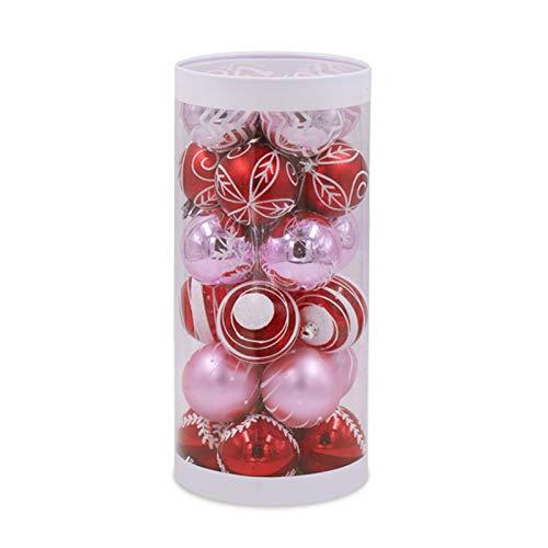 24 bolas de Navidad de 6 cm para decoración de árbol de Navidad inastillables