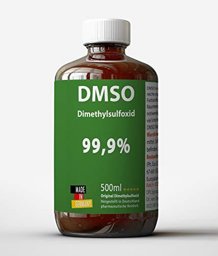 DMSO 500ml 99,9% pharmazeutische Reinheit - in medizinischer Braunglasflasche (lichtgeschützt) - DMSO 500ml unverdünnt - flüssig – Pure DMSO aus Deutschland