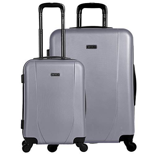 ITACA - trolley koffers, ABS. Stijf, bestendig en licht. Telescopische handgreep, 2 handvatten, 4 wielen. Geïntegreerd slot. Kleine lage kosten, gemiddeld en groot.