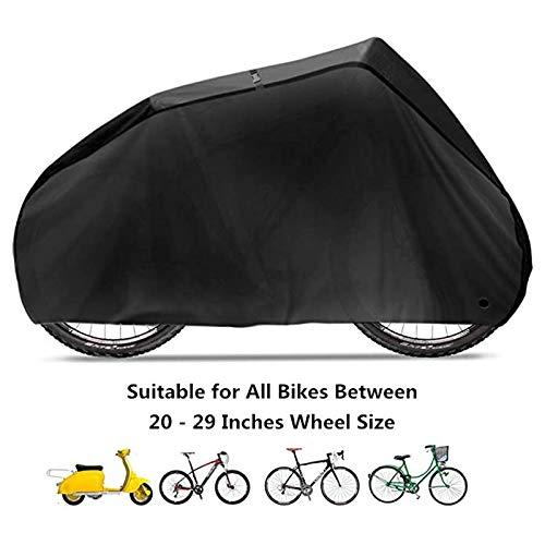 MINGDIAN FH 190T Couverture en Nylon Imperméable Vélo for Vélo VTT Housse De Protection Anti-poussière Protection Contre La Pluie U-V Lock-Trous Sac De Rangement MD-YB (Color : A, Size : S)