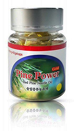 Wild Crafted Red Korean'Superior' Pine Needle Oil 60 Capsules