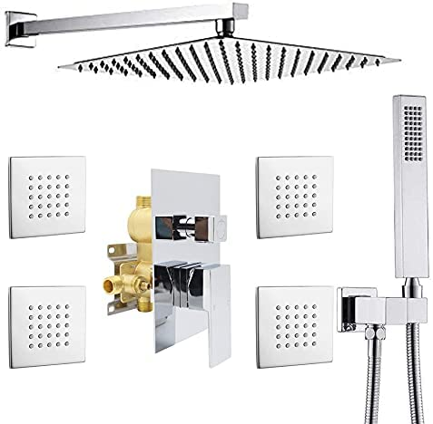 NPYSVSSS service Shower Jets System 12 Wall Translated Rainfall Mounted Inch