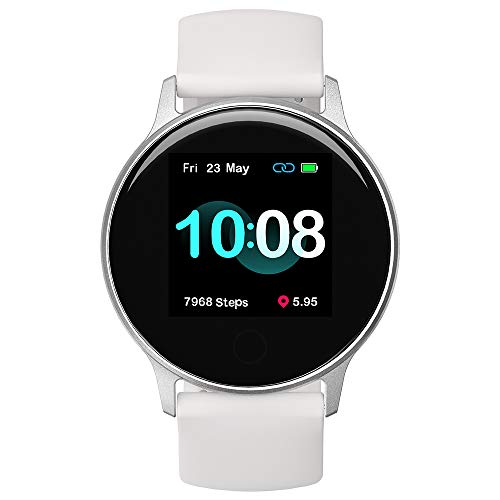 スマートウォッチ UMIDIGI Uwatch 2S マートウォッチ レディース 活動量計 歩数計 心拍計 睡眠モニター 5ATM防水 撮影リモート 音楽再生コントロール 着信通知 座り立ち注意 日本語アプリ バッテリー長持ちiphone&Android対応