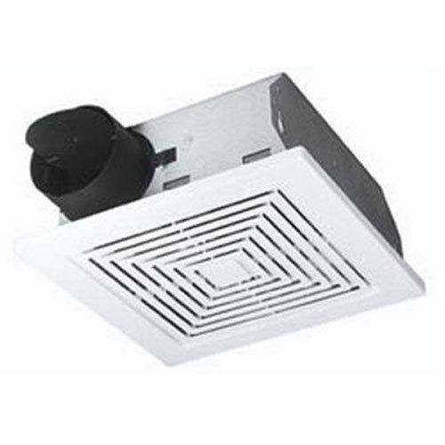 Broan – Ventilador de techo y pared, color blanco, 60 CFM 5.5 Sones, White Plastic Grille