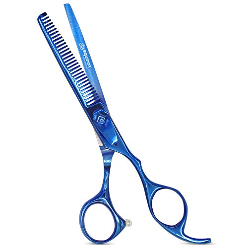 Equinox Professional Razor Edge Series - Barber Hair Thinning/Texturizing Scissors/Shears - 6.5 Inches- Titanium