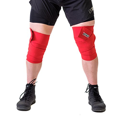 Sling Shot Mark Bell's World Record Knee Wraps for Weightlifting and Bodybuilding, Heavy-Duty Knee Support Strap for Heavy Lifting - 3.0m
