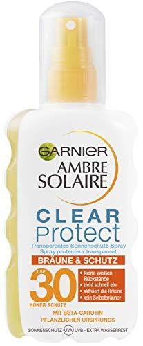 Garnier Ambre Solaire Clear Protect Bräune und Schutz transparentes Sonnenschutz-Spray mit LSF 30 1er Pack (1 x 200 ml)