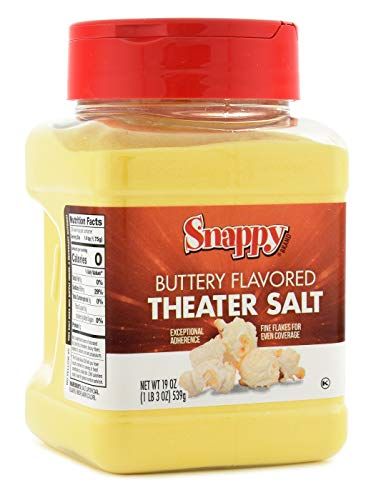 Read About Snappy Buttery Flavored Theater Popcorn Salt, 19 Ounce