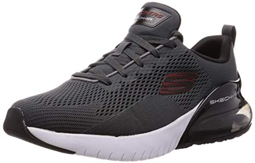 Skechers Herren Skech-air Stratus Sneaker, Grau (Charcoal Textile/Synthetic/Black Trim Charcoal), 42.5 EU