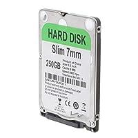 H HILABEE ラップトップ内蔵7mmモバイルハードディスクドライブ2.5インチSATA III 6Gb / S 8MBキャッシュ - 250G