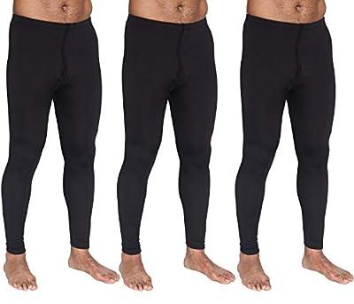 3-Pack: Men's Thermal Underwear Pants Set Warm Long Johns Compression Underpants Leggings Training Tights Active Clothing - Set 2, Medium